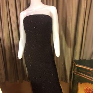 Carmen Marc Valvo |Strapless Beaded Dress| Size 6